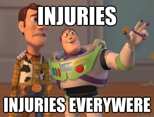 Injuries injuries everywere - Injuries injuries everywere  Buzz Lightyear