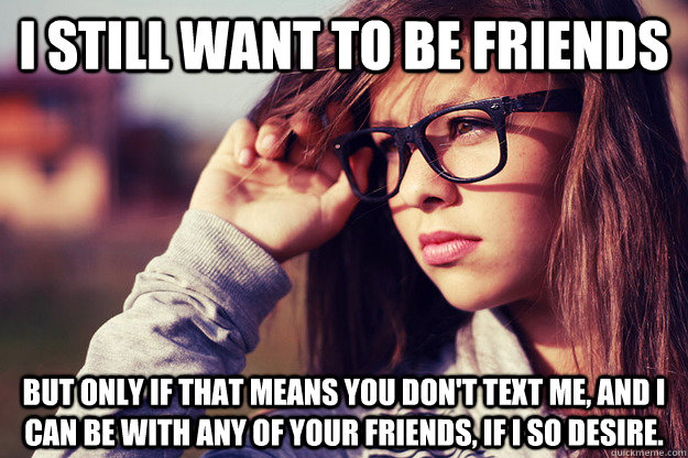 your girlfriend just wants friends