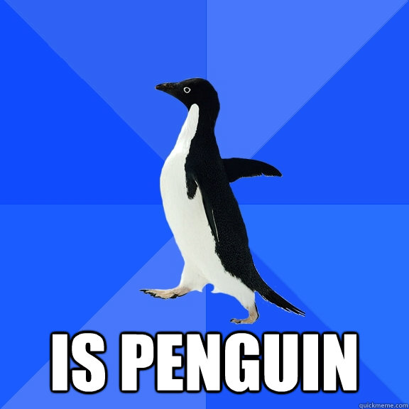 Is penguin -  Is penguin  Socially Awkward Penguin