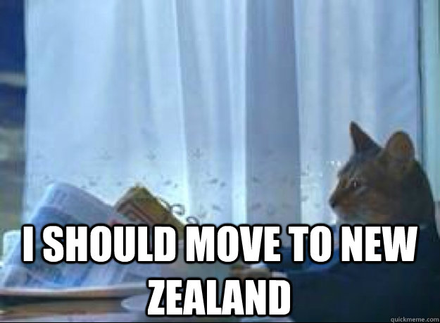I should move to New Zealand  - I should move to New Zealand   I should buy a boat cat