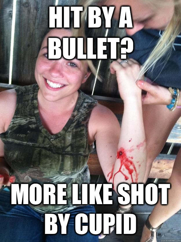 Hit by a bullet? More like shot by Cupid