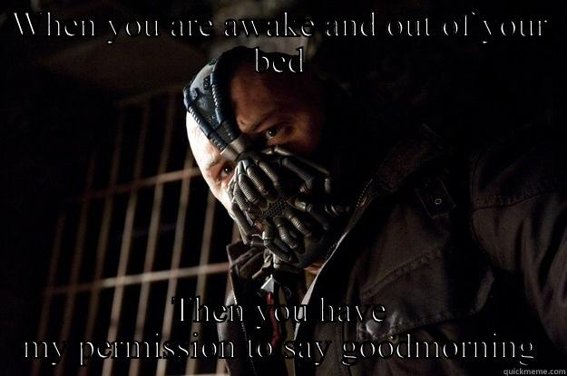 Good Morning - WHEN YOU ARE AWAKE AND OUT OF YOUR BED THEN YOU HAVE MY PERMISSION TO SAY GOODMORNING Angry Bane
