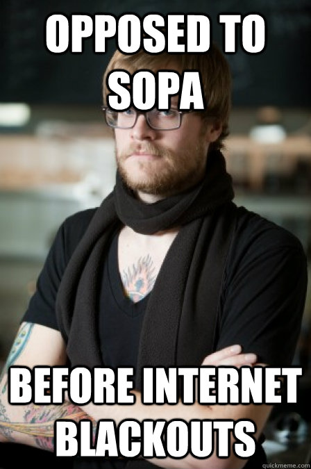 Opposed to SOPA Before internet blackouts