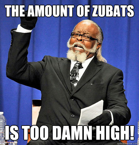 The amount of zubats  is too damn high!