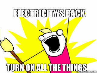 ELECTRICITY'S BACK TURN ON ALL THE THINGS - ELECTRICITY'S BACK TURN ON ALL THE THINGS  All The Things