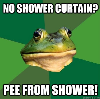 No Shower Curtain Pee From