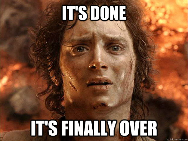 Image result for its over its finally over