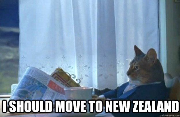 I should move to new Zealand - I should move to new Zealand  Sophisticated Cat