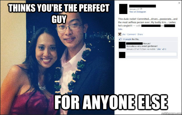 246303e81c92844e32e3214655e363c2bd278c68d13766ae6e7a16452bcea2fa thinks you're the perfect guy for anyone else friend zone