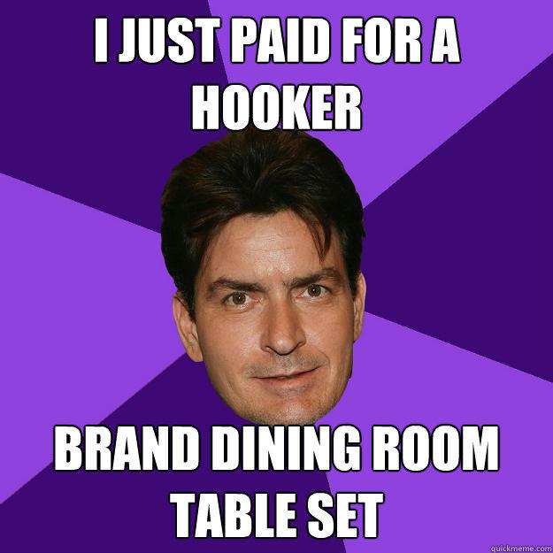 I just paid for a hooker brand dining room table set  Clean Sheen