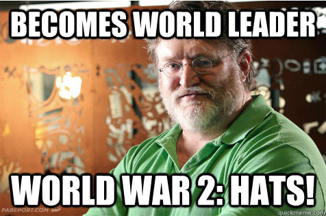 Becomes world leader World war 2: Hats! - Becomes world leader World war 2: Hats!  Good Guy Gabe