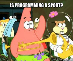 is programming a sport?