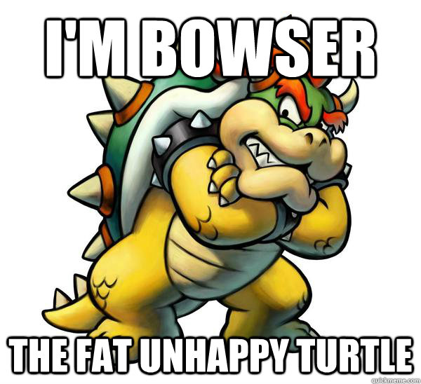 I'm Bowser The Fat Unhappy Turtle  Good Guy Bowser