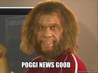 poggi news good  Caveman