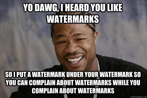 255125f30bb65cab976a758c4e604f6bf85096dec8af8afa1ee1edd73ebc1739 xzibit meme memes quickmeme,Watermark Meme