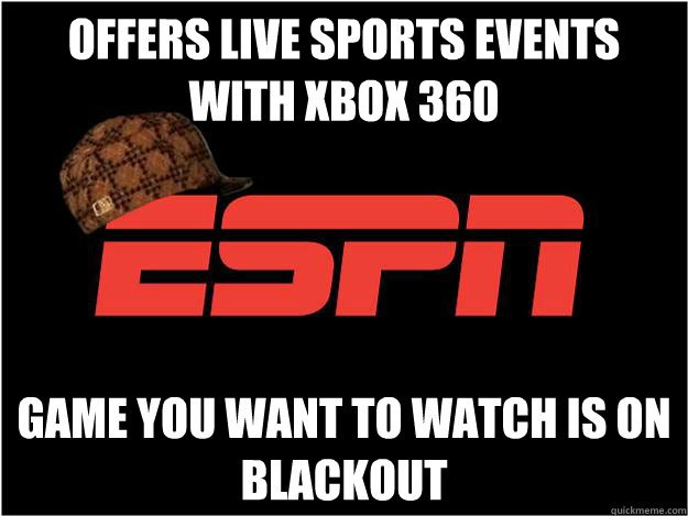 Offers live sports events with xbox 360 Game you want to watch is on blackout - Offers live sports events with xbox 360 Game you want to watch is on blackout  Misc