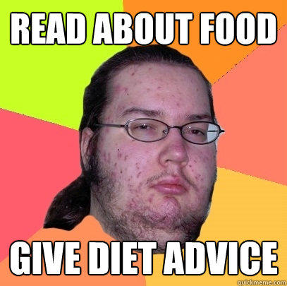 read about food give diet advice