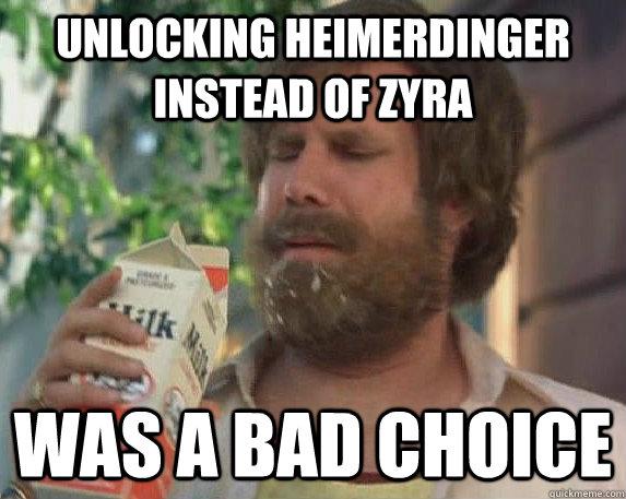 Unlocking Heimerdinger instead of Zyra was a bad choice