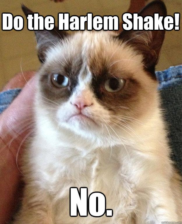 Do the Harlem Shake! No.
