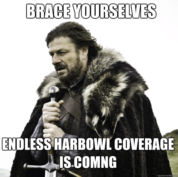 BRACE YOURSELVES Endless Harbowl Coverage is Comng