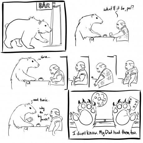 This is unbearably punny. -   Misc