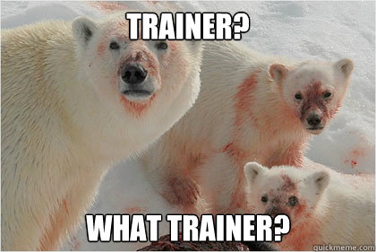 Trainer? What trainer?  Bad News Bears