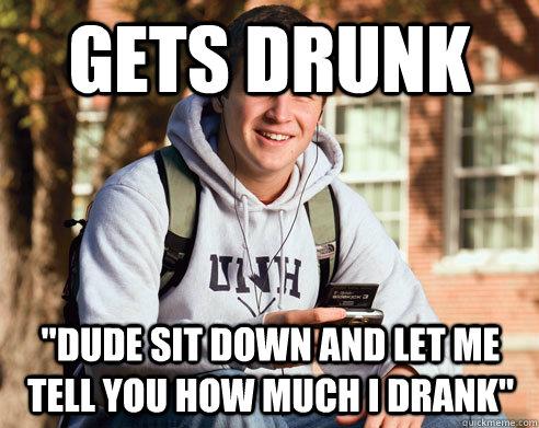 gets drunk