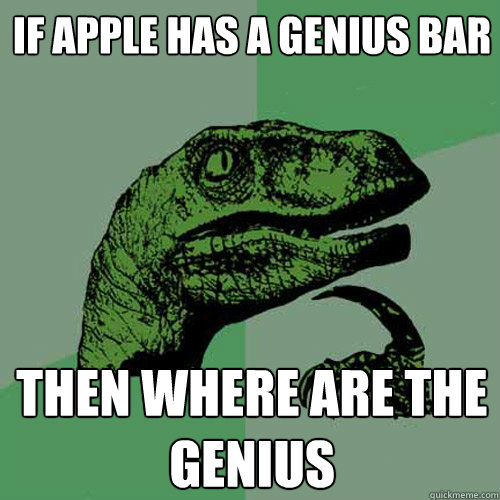 Funny Memes Quiz : If apple has a genius bar then where are the