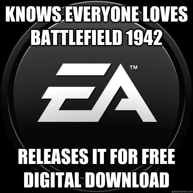 Knows everyone loves Battlefield 1942 Releases it for free digital download