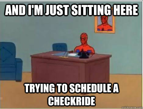 And I'm just sitting here trying to schedule a checkride - And I'm just sitting here trying to schedule a checkride  Amazing Spiderman