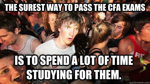 The Surest Way To Pass The Cfa Exams Is To Spend A Lot Of Time