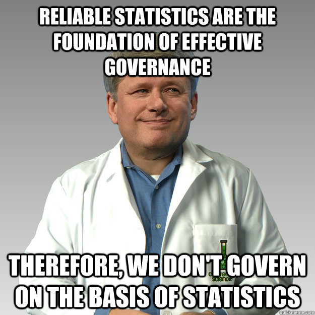 Reliable statistics are the foundation of effective governance Therefore, we don't govern on the basis of statistics