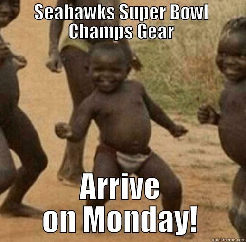 SEAHAWKS SUPER BOWL CHAMPS GEAR ARRIVE ON MONDAY! Third World Success