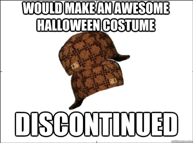 Would make an awesome halloween costume discontinued