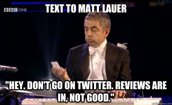 Text To Matt Lauer