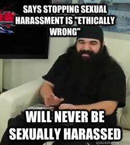 says stopping sexual harassment is