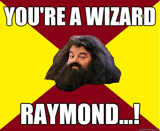You're a Wizard Raymond...! - You're a Wizard Raymond...!  Happy Hagrid