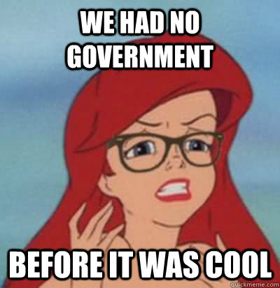 We had no government before it was cool  Hipster Ariel