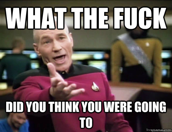 What the fuck did you think you were going to - What the fuck did you think you were going to  Annoyed Picard HD