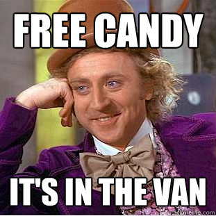 Free Candy It's in the van