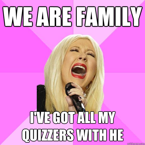 We are family I've got all my quizzers with he - We are family I've got all my quizzers with he  Wrong Lyrics Christina