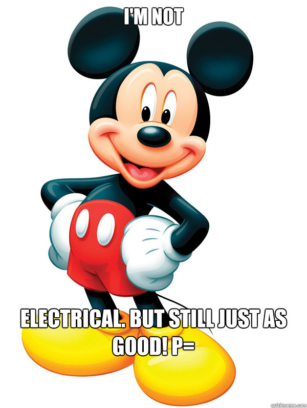 I'm not Electrical. But still just as good! P=