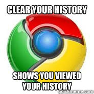 Clear your history Shows you viewed your history