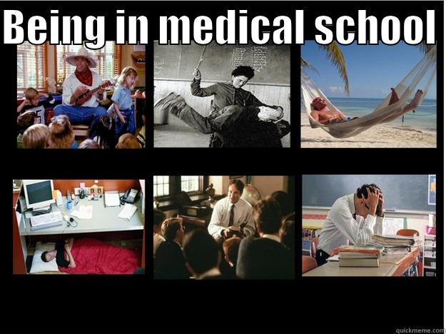 Medical student - BEING IN MEDICAL SCHOOL   What People Think I Do