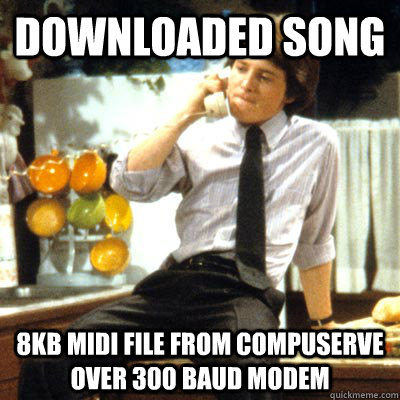 Downloaded song 8Kb MIDI file from Compuserve over 300 Baud Modem - Downloaded song 8Kb MIDI file from Compuserve over 300 Baud Modem  Misc