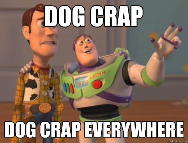 Dog crap Dog crap everywhere - Dog crap Dog crap everywhere  toystory everywhere