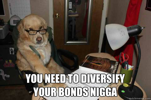 You need to diversify your bonds nigga -  You need to diversify your bonds nigga  Financial Advice Dog