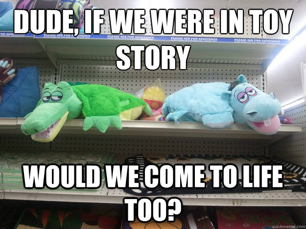 Dude, if we were in Toy Story Would we come to life too?