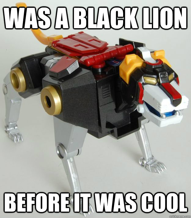 Was a Black lion Before it was cool - Was a Black lion Before it was cool  Hipster Black Lion