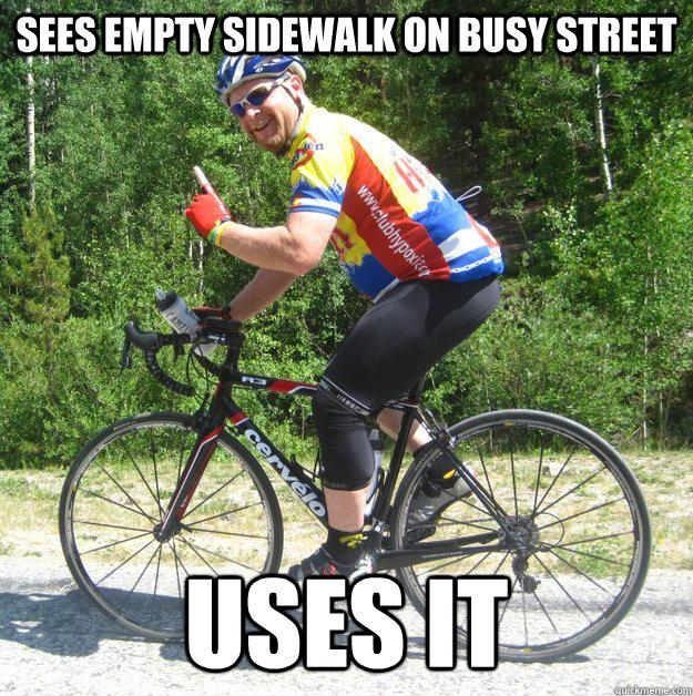Busy Street Sidewalk sees empty side...
